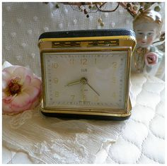 Vintage West German Elgin Travel Alarm by rosepetalsandblooms, $30.00