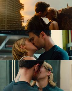 ; Happy International Kissing Day! In Allegiant, we've been blessed with not 1, not 2, but 3 kissing scenes. ❤️
