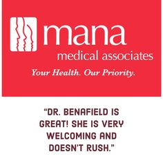 Dr. Benafield's patients have great things to say about her.