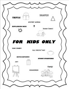 For Kids Only Magazine! Fun activities! Printables! from Kimberly Sullivan on TeachersNotebook.com -  (39 pages)  - This is a learning packet / magazine for grades 1-4.  Printables!
