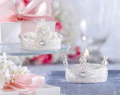 Royal Tiara Tealight holders (can also be used as cake toppers, centerpieces, etc.)