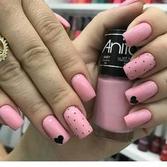Fails design valentines coffin 60 Ideas for 2019 Elegant Nails, Stylish Nails, Trendy Nails, Cute Nails, Minimalist Nails, Nail Art Hacks, Nail Art Designs Videos, Nail Designs, Pink Nails