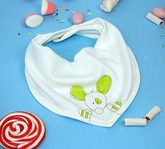 Designer baby bib  bandana Baby bib  mouse bib twins by rockbabies