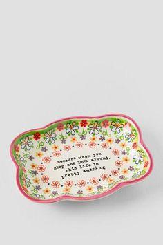 Ceramic Life is Pretty Amazing Artisan Trinket Dish $22.00