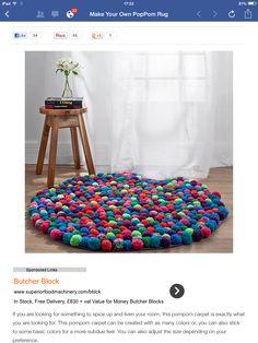 Pom Pom rug, on my to do list
