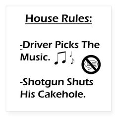 Shotgun Shuts His Cakehole Sticker on CafePress.com