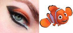Finding Nemo inspired makeup look Makeup Themes, Makeup Ideas, Beauty Makeup, Eye Makeup, Mermaid Parade, Disney Makeup, Eyes Lips Face, Theatre Makeup, Makeup Designs
