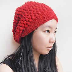 A beanie with cute raspberry texture! Instructions in pictures available! freebie: thanks so xox