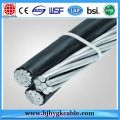 0.6/1KV Triplex Aerial Bundle Cable Flustra 3/0 AWG AAC/XLPE/PE+3/0 AWG AAAC