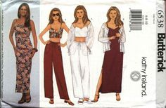 Butterick Sewing Pattern 6538 Misses Size 18-20-22 Easy Wardrobe Jacket Dress Top Pants   Butterick+Sewing+Pattern+6538+Misses+Size+18-20-22+Easy+Wardrobe+Jacket+Dress+Top+Pants
