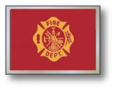 Golf Cart Flags - FIRE DEPT 11' x 15' Replacement Flag.  Buy it @ ReadyGolf.com