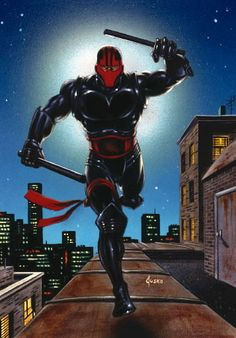 Night Thrasher - Dwayne Michael Taylor, an African-American rich kid who seeks to be a vigilante with armor and none lethal weaponry, forms a team of Marvel superheroes by studying their abilities (sounds familiar) and reactivating them as heroes calling themselves the New Warriors. He was one of the coolest concepts way back in the day then they up and improved another hero with some of the same parallel storylines.