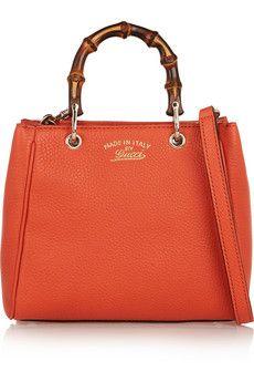 Gucci - Bamboo Shopper mini textured-leather shoulder bag 6011a6726d8af