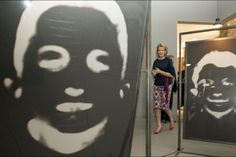 "Queen Mathilde visited Christian Boltanski's expo ""La Salle des Pendus"" at The MAC's Museum in Mons. 15 July 2015"