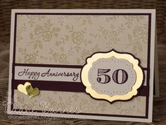 50 happy years - 2 golden anniversary cards