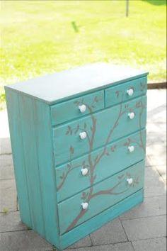 DIY Painted Dresser.