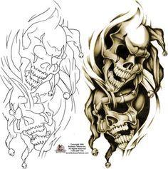 gothic clown tattoo sketch - Google zoeken