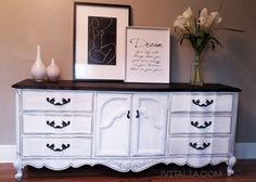 Painted furniture french white and black dresser. Gorg!!  https://www.etsy.com/listing/238934112/french-provincial-dresser-sideboard
