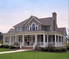 Country Farmhouse with Wrap-around Porch - 16804WG | Architectural Designs - House Plans