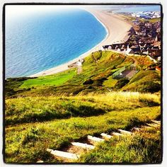The path down to Chesil beach (Taken with Instagram at Fortuneswell)