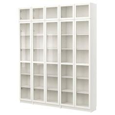 BILLY Estante c/porta de vidro - branco - IKEA