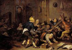 """""""Im schulzimmer"""", c.1630. Pieter de Bloot (1601-1658). Landesmuseum, Mainz."""