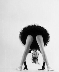 Dancer Tanaquil LeClercq performing at photographer Gjon Mili's studio, 1951.