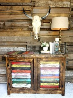 cool Southeastern salvage 100% has this colorful wood piece...