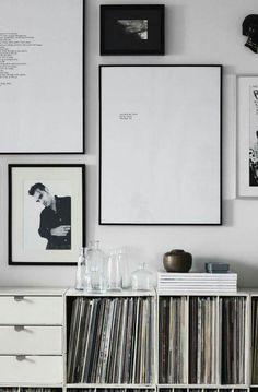 Encadrer des paroles de chanson ... bonne idée ! - Put your favorite lyrics into frame to decorate your house !