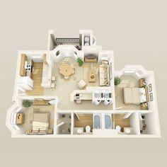 Luxury Las Vegas Apartments for Rent Sims 4 House Plans, House Layout Plans, House Layouts, House Floor Plans, Sims 4 Houses Layout, Studio Apartment Floor Plans, Tiny House Layout, Sims House Design, Small House Design