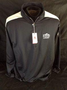 Coors Light Beer Golf Shirt Long Sleeve Antigua Desert Dry Succeed Size XL New!! #CoorsLight #halfzipper