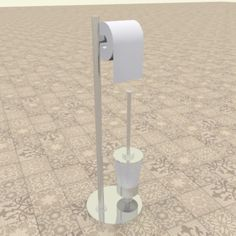 Buy Toilet paper stand by baychedesign on Toilet paper stand Stainless steel combined toilet paper stand with brush Toilet paper stand Created in Autocad and i. Toilet Paper Stand, 3d Design, Simple Designs, New Homes, Bathroom, Abstract, Modeling, Poster, House