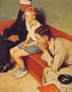 1937- Waiting Room- by Norman Rockwell