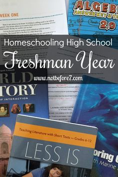 This year I am homeschooling a high school freshman. Want to know how we are going to get it done? Check out the plan for her freshman year.