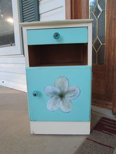 Hey, I found this really awesome Etsy listing at https://www.etsy.com/listing/220222193/lagoon-blue-side-table