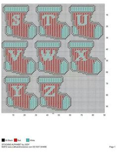 Stocking alphabet