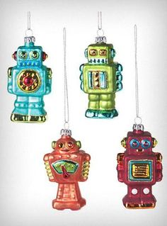 robots! After 3 years of lusting I bought some of these last year after Christmas. So cute!