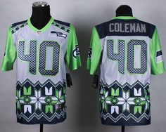 Youth Seattle Seahawks Derrick Coleman Nike Navy Blue Team Color Game Jersey
