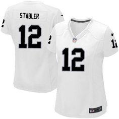 fa8270de2 Women Nike Oakland Raiders  12 Kenny Stabler Elite White NFL Jersey Sale  Packers Clay Matthews jersey