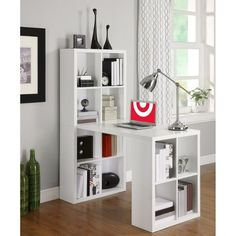 I just want to buy two and put them together to be my craft table and storage in my future house. haha :D Computer Desk With Shelves White - Altra : Target