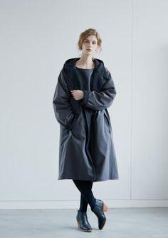 COMOLI-Hooded coat Gray-unisex - LOCALERS
