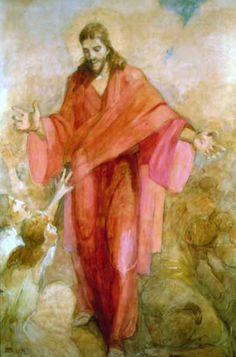 lds art minerva teichert - Christ in a Red Robe