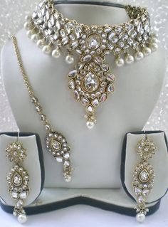 KUNDAN PEARL indian bridal jewellery set