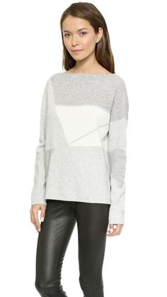Vince Abstract Jacquard Sweater