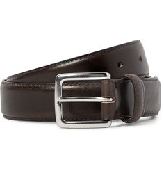J.CREW3cm Dark-Brown Leather Belt  $70
