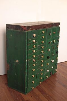 44 Drawer Wood Industrial Storage Unit by OTHERTIMESvintage, $360.00