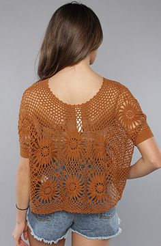 The New Romantics Bloom Crochet Top