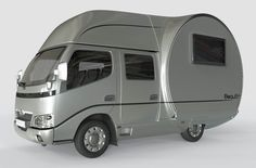 French company Beauer wants you to get more outdoor living space without having to tow a huge, bulky trailer. Its 3X teardrop features a telescopic design that gives you three times the interior space, creating what looks like a tin can in the woods.