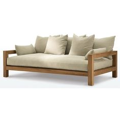 MONTECITO DAYBED ❤ liked on Polyvore featuring home, furniture, sofas, casual furniture, james perse furniture, los angeles furniture and james perse