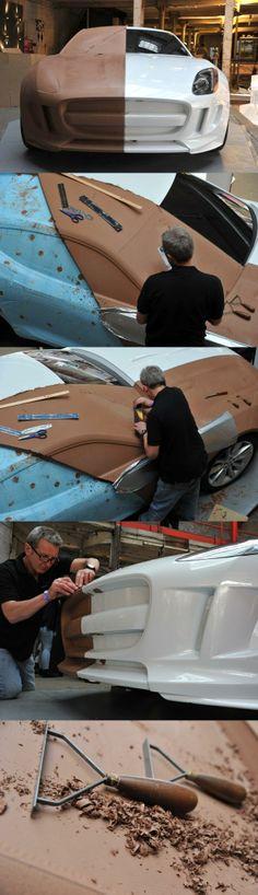 #Jaguar to sculpt C-X16 clay model live - Car Design News